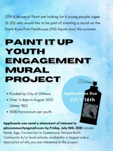 poster for youth engagement mural