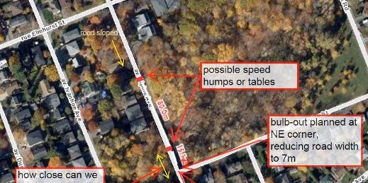 proposed speed bumps on alpine ave between henley and elmhurst