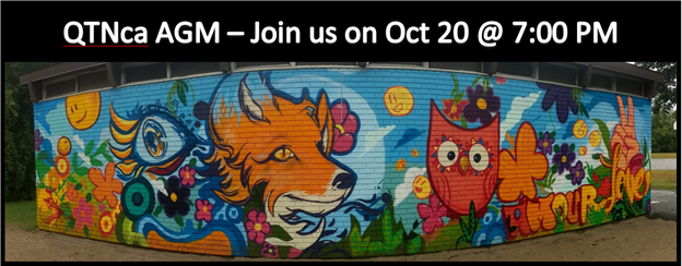 QTNca AGM is on October 20th at 7PM